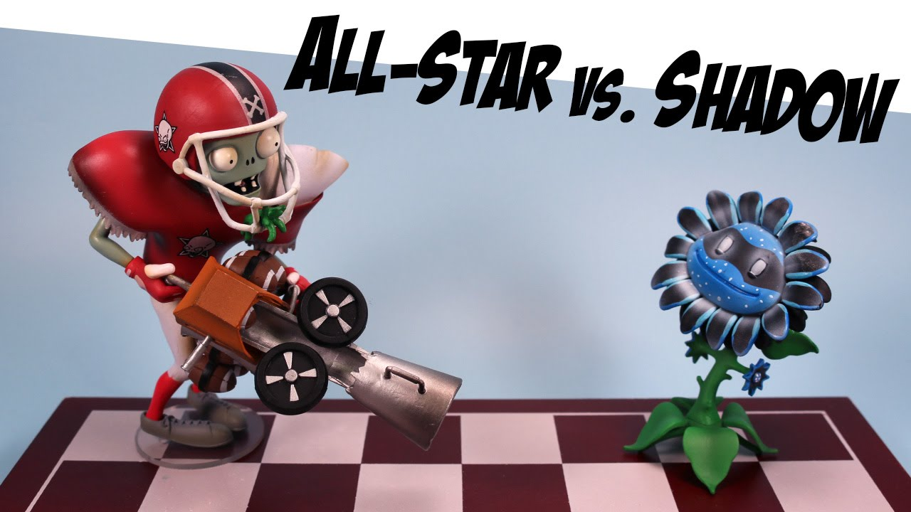 Plants Vs Zombies Garden Warfare All Star Vs Shadow Flower Diamond Select Toys Youtube