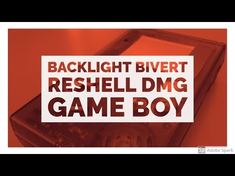 Backlight, Bivert and Reshelling an Original DMG Game Boy