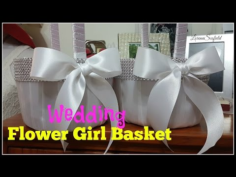 How to Make A Wedding Flower Girl Basket