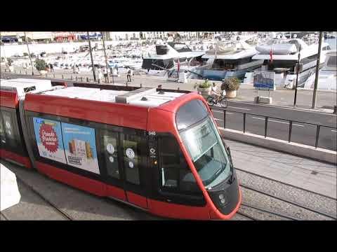 Nizza - Nice tramway - Villamos -  Strassenbahn - Régie Ligne d'Azur - רכבת קלה - Alstom Citadis