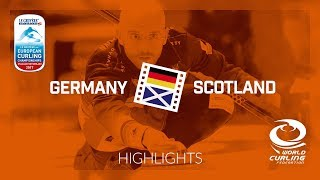 HIGHLIGHTS: Germany v Scotland - Men - Le Gruyère AOP European Curling Championships 2017