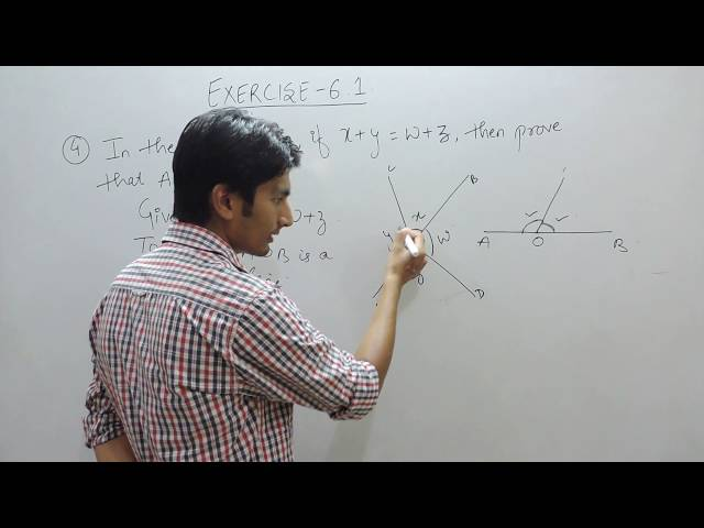 Exercise 6.1 (Lines and Angles) Question 4  NCERT/CBSE Solution for Class 9th Maths