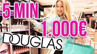 Kann ich in 5 Minuten 1.000 € bei DOUGLAS ausgeben? Ihr bekommt alles! | XLAETA