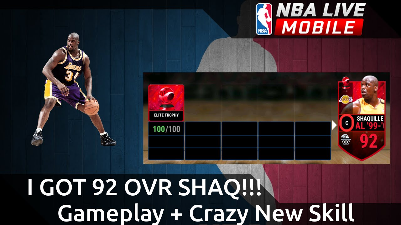 I got 92 ovr shaq crazy new skill gameplay nba live for Where does shaq live