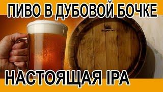 Домашнее пиво в дубовой бочке