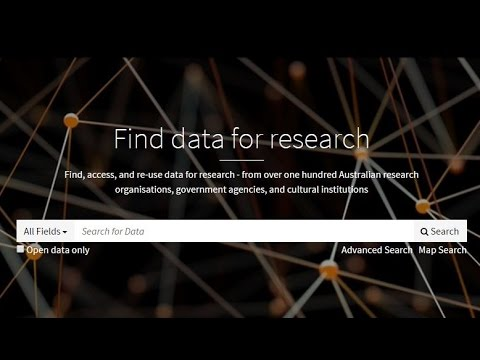 How to search in Research Data Australia
