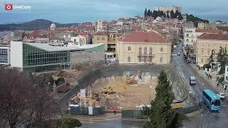 Šibenik - Trg Poljana, izgradnja podzeme garaže, time lapse do 2.4.2019.