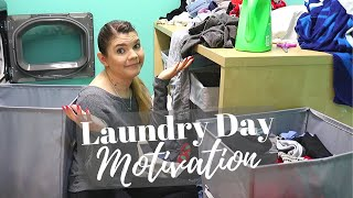LONGEST LAUNDRY DAY EVER // Cleaning Motivation // Cleaning Mom