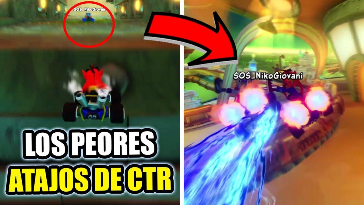 LOS ATAJOS MAS ASQUEROSOS de CTR 🤮 | CRASH TEAM RACING NITRO FUELED