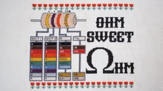 Ohm Sweet Ohm Cross-Stitch Kit by Adafruit