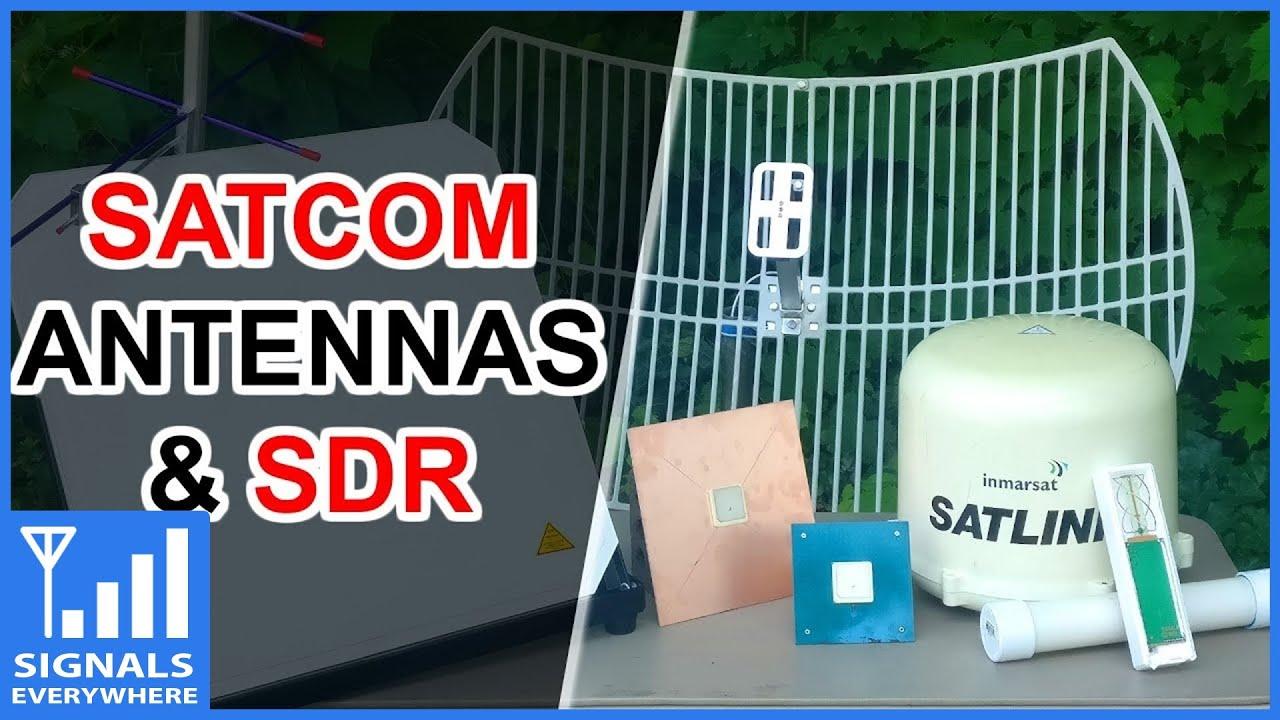 Satcom Antennas for L-Band Reception via RTL SDR
