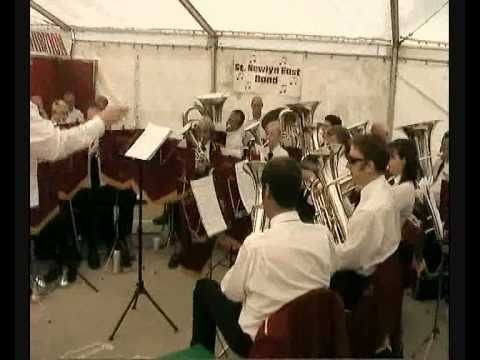 St Newlyn East Band Playing In The 2009 Newquay Fish Festival Beer Tent.
