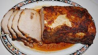 Два блюда из свиной вырезки. Часть2:мясо запечённое. Two meals from pork loin, Part2:baked meat