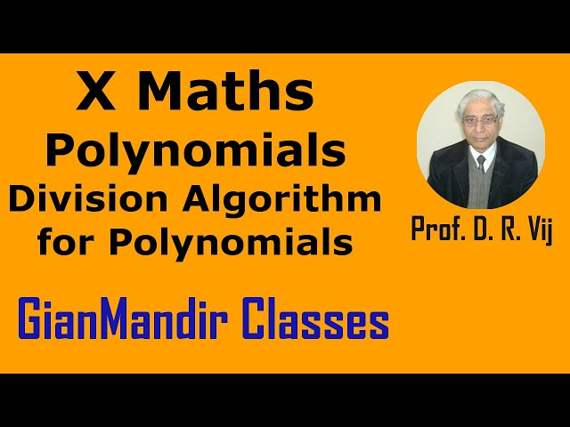 X Maths | Polynomials | Division Algorithm for Polynomials by Preeti Ma'am