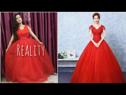 848da642fede Club Factory wedding dress 👗 Amazing quality in rs. 2300 only 😁 with  coupon code 3629816 😍 - YouTube