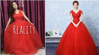 Club Factory wedding dress 👗 Amazing quality in rs. 2300 only 😁 with coupon code 18784ce0