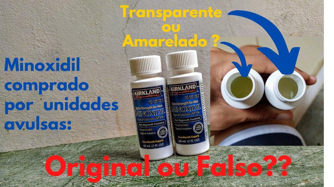 Download Como Saber se Minoxidil Kirkland Comprado Avulso é Original - Minoxidil Amarelado ou Transparente??