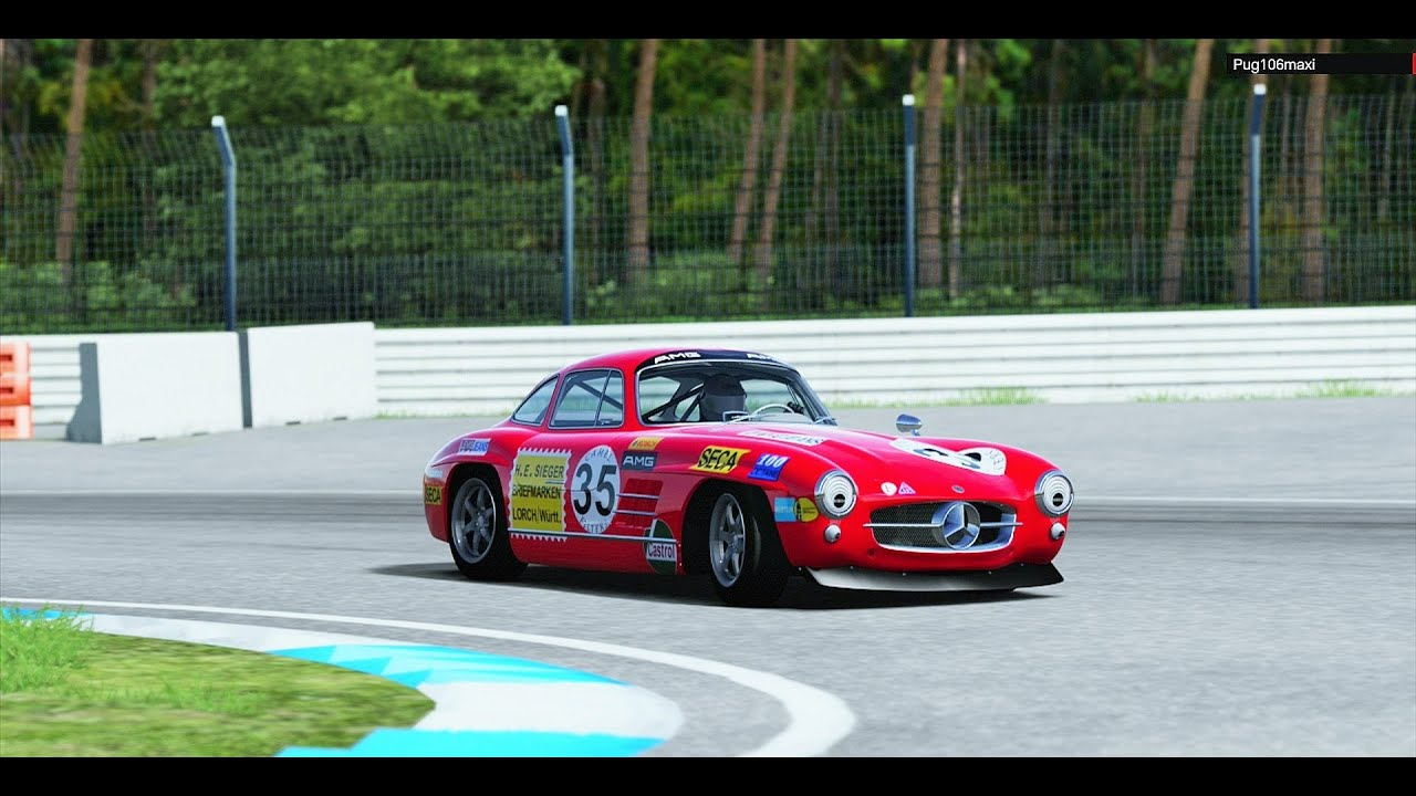 Mercedes 300 SL Gullwing Coupe \'54 Old Rally Test - YouTube