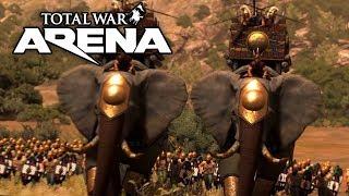 36 слонов и 72 бивня на поле боя в Total War: ARENA!