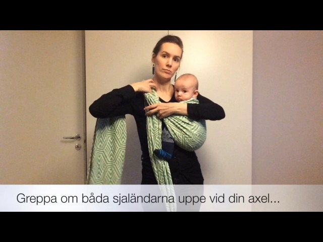 Att få upp barnet på ryggen: Höftskuff