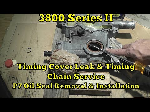 1995 Oldsmobile 3800 Timing Cover Leak & Timing Chain Service  PT 7 Oil Seal Removal & Installation