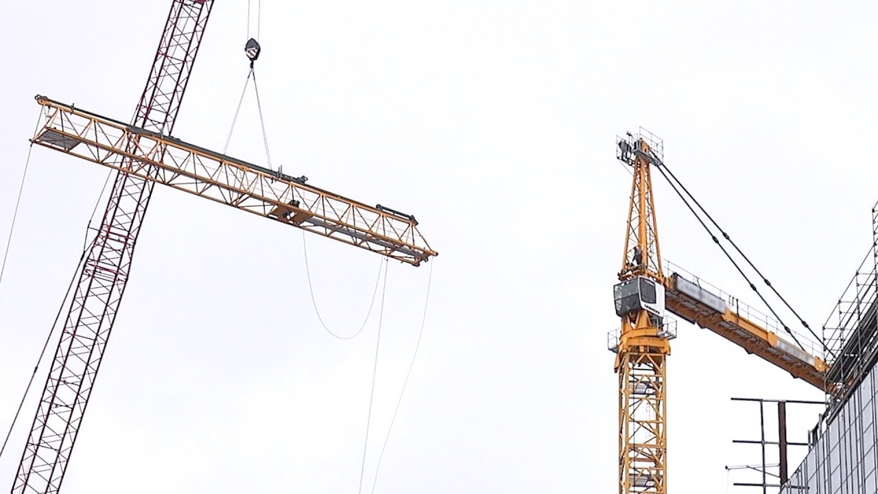 Disassembly Of A Tower Crane As Seen From Below We Bid