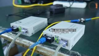Fiber Optic Gigabit Autosensing 10/100/100 Media Converter