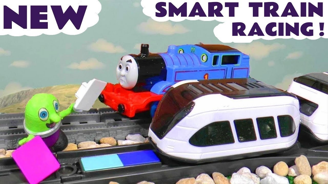 Thomas The Tank Engine Races The NEW Intelino Smart Train in a funny Funlings Toy Story TT4U