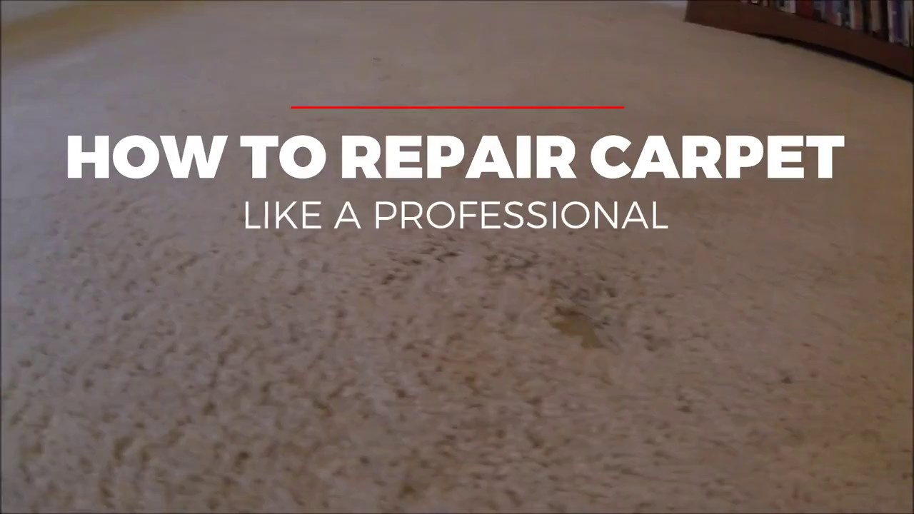 How To Repair Carpet Patch You