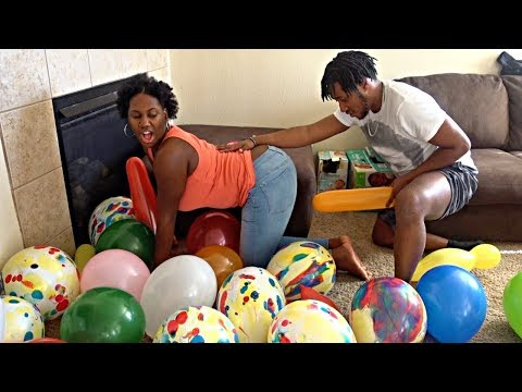 EXTREME BALLOON POP CHALLENGE!!