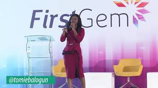 Tomie Balogun speaking at the Annual First Gem Event organis...