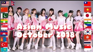 Asian Music in October 2018 | 10/2018 | 19 countries