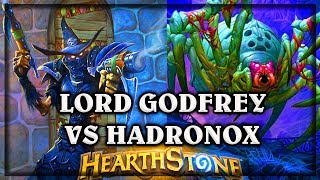 Lord Godfrey VS Hadronox Druid ~ The Witchwood Hearthstone Heroes of Warcraft