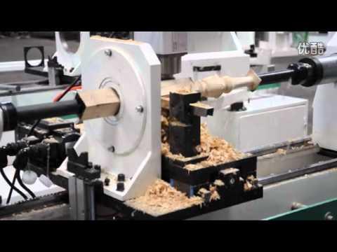 PINMAI 4 Axis CNC Wood Lathe - YouTube