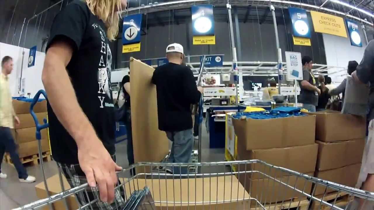gopro ikea shopping cart time lapse youtube. Black Bedroom Furniture Sets. Home Design Ideas