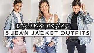 Styling Basics: 5 Ways to Wear a Jean Jacket | by Erin Elizabeth