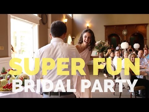 EXCITING Bridal Party Entrance!