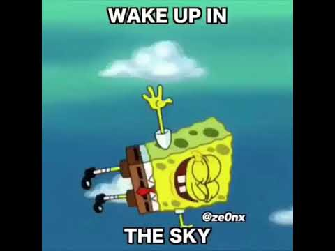 Wake up in the sky portrayed by spongebob