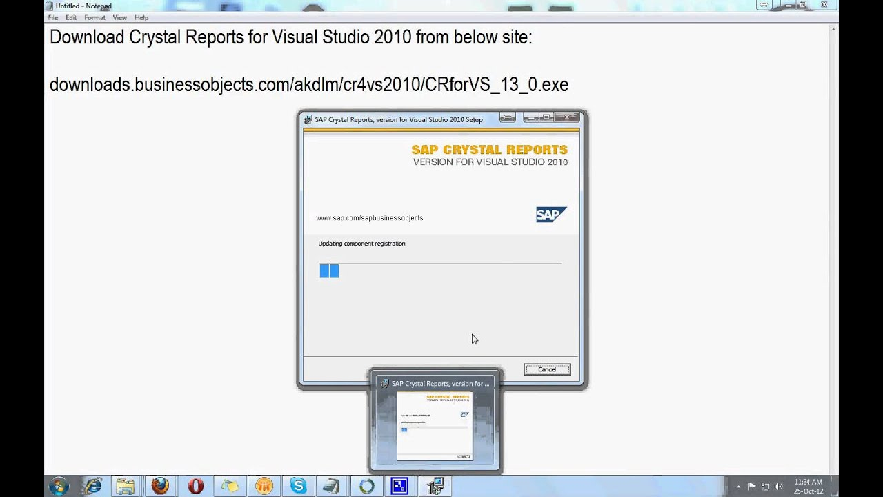 Sap crystal reports for visual studio 2010 free download