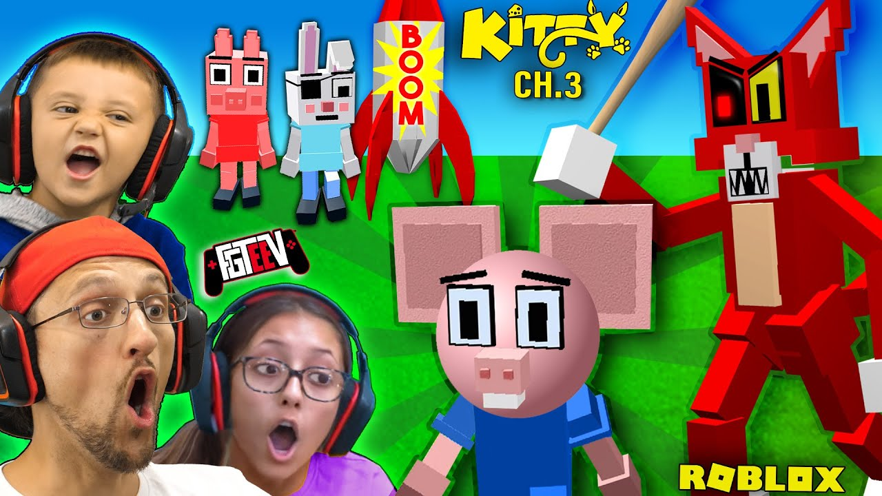 Download ROBLOX KITTY vs. PIGGY Mouse!  (FGTeeV's Chapter 3 Peppa Family ESCAPE)