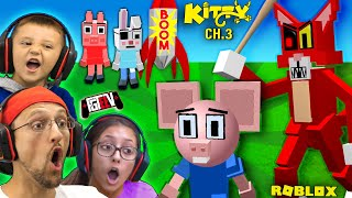 ROBLOX KITTY vs. PIGGY Mouse!  (FGTeeV's Chapter 3 Peppa Family ESCAPE)