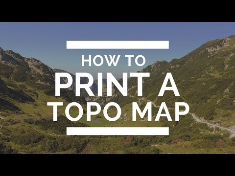 How To Print A Free Topo Map To Carry On Your Hike