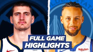NUGGETS vs WARRIORS FULL GAME HIGHLIGHTS | 2021 NBA Season