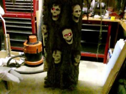 Haunted tree halloween prop youtube for Haunted tree prop