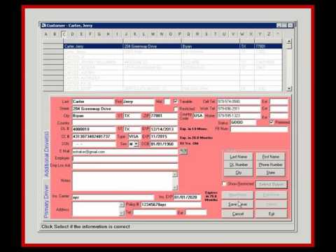 Car Rental Reservation Software Demo - New Contract