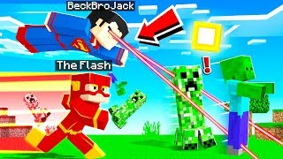 Playing MINECRAFT As The STRONGEST SUPERHERO! (overpowered)