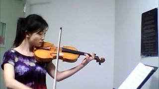 Phantom of the Opera - Think of Me  Violin Solo - adult violin beginner - 11 months violin learning