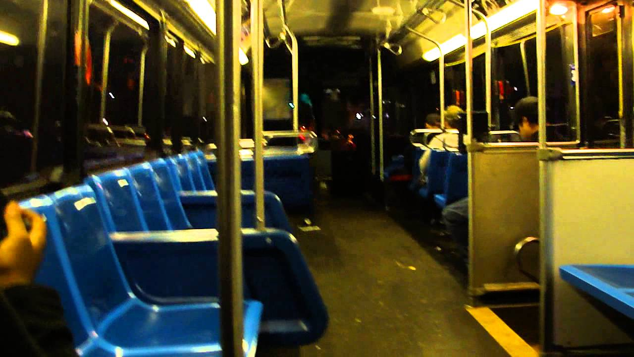Mta New York City Bus Riding Inside Of The Orion 05 501