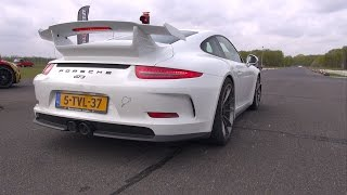 Porsche 991 GT3 using Launch Control system!