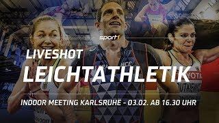 LIVE 🔴  | IAAF World Indoor Tour Meeting Karlsruhe | Leichtathletik | 03.02.2018 | SPORT1